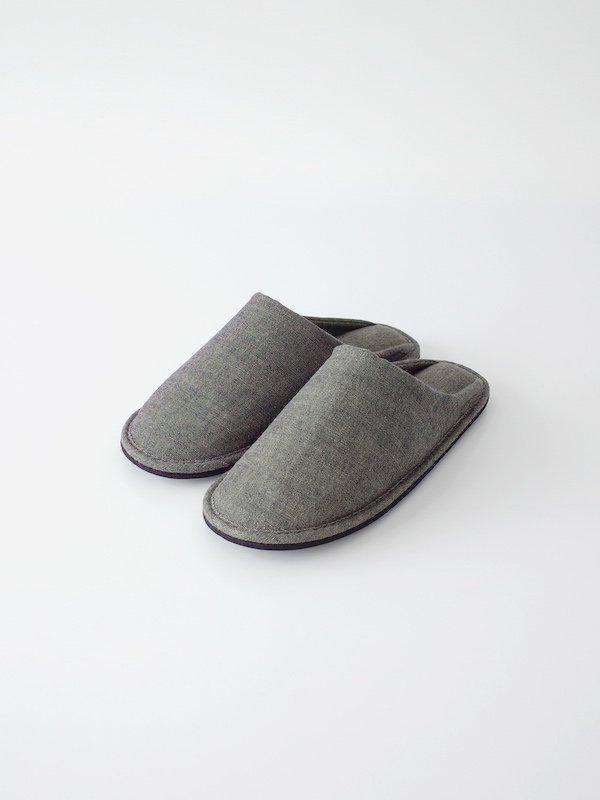 F/style 亀田縞のスリッパ 若草紺