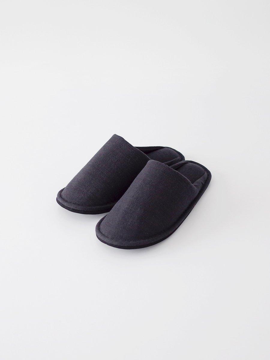 F/style 亀田縞のスリッパ 黒鼠紺