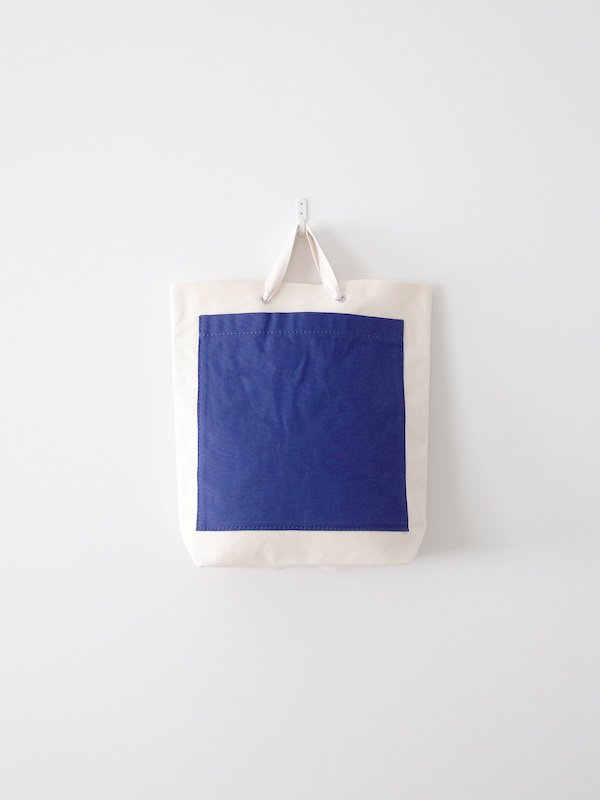 TEMBEA Pocket Tote Small - Natural / Navy
