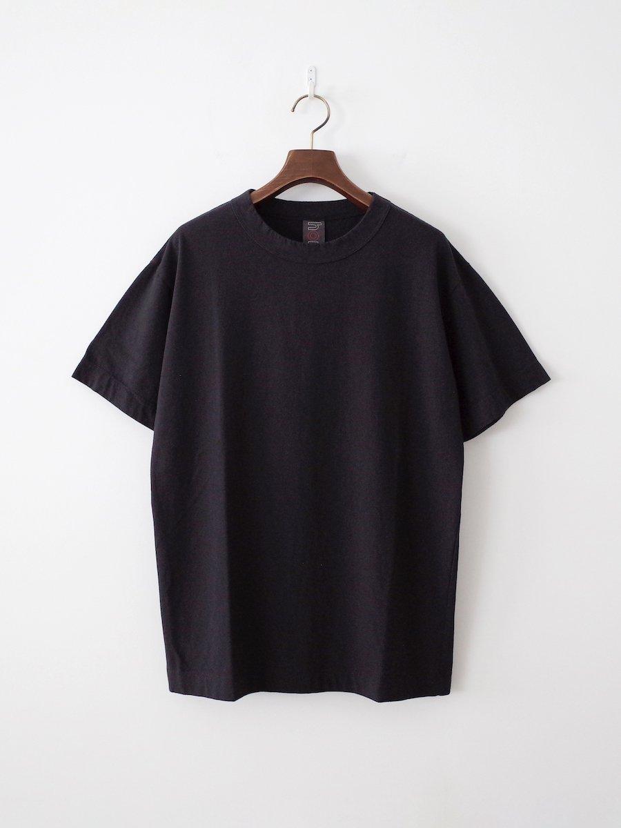 homspun 天竺半袖Tシャツ ブラック(メンズ)