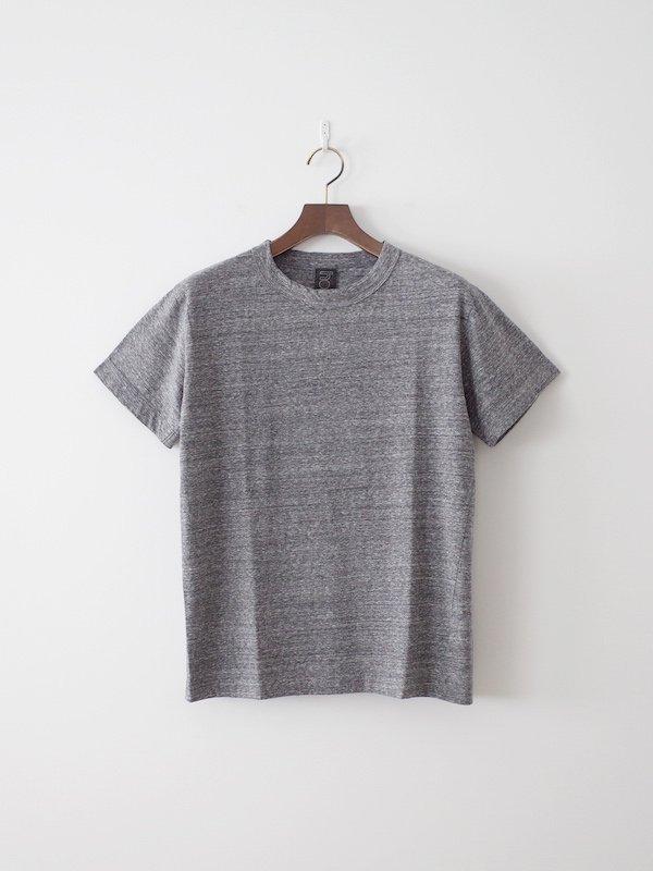 homspun 天竺半袖Tシャツ 粗挽杢チャコール(メンズ)