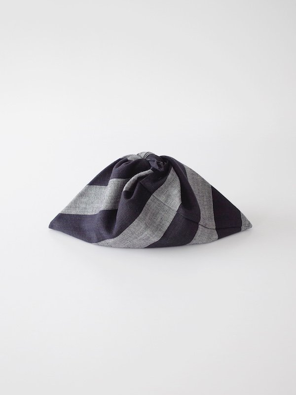 F/style 亀田縞の弁当包み 生成紺×黒鼠紺