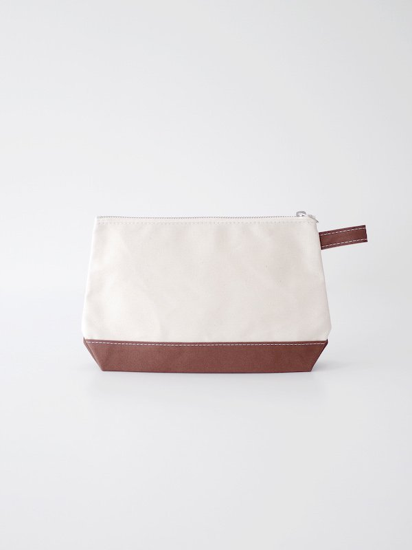 TEMBEA Toiletry Bag Large - Natural / Dk Brown