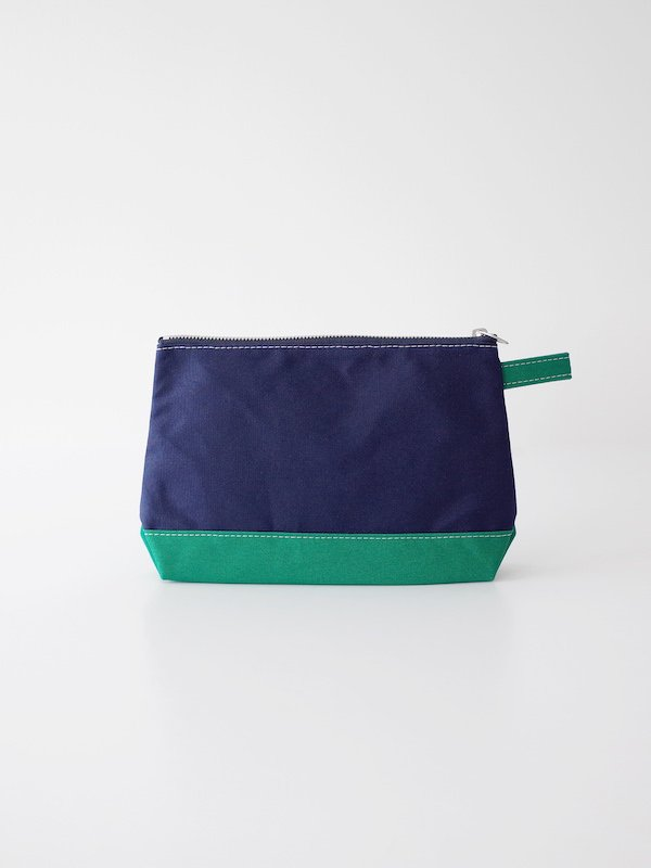 TEMBEA Toiletry Bag Large - Navy / Lt Green