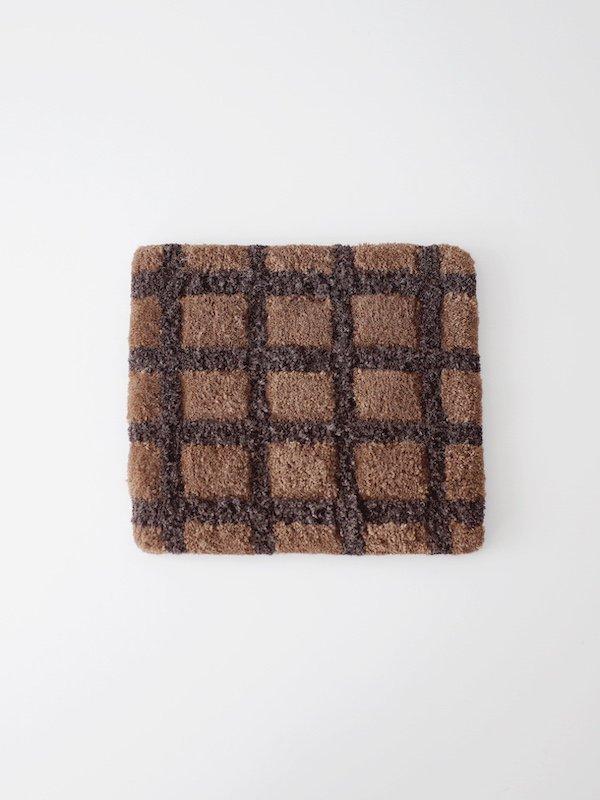 F/style ウィンドウペン チェアパッド Brown × Dark Brown