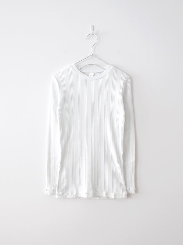 Ohh! Cotton Silk Random L/S Crew - Smoky White