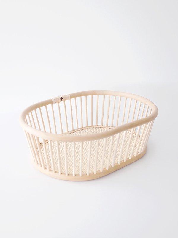 F/style 籐(ラタン)のバスケット 楕円