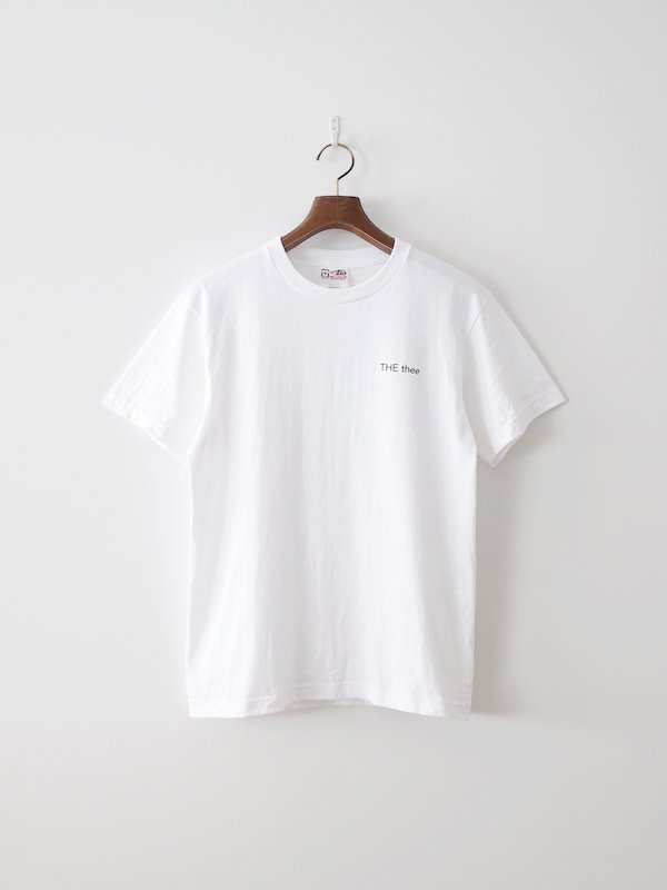 nisica THE thee プリント半袖Tシャツ White