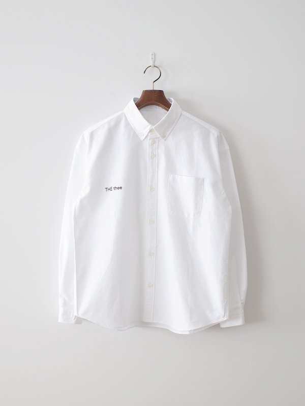 nisica THE thee 長袖ボタンダウンシャツ White