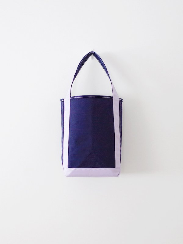 TEMBEA Baguette Tote Small - Navy / Lavender