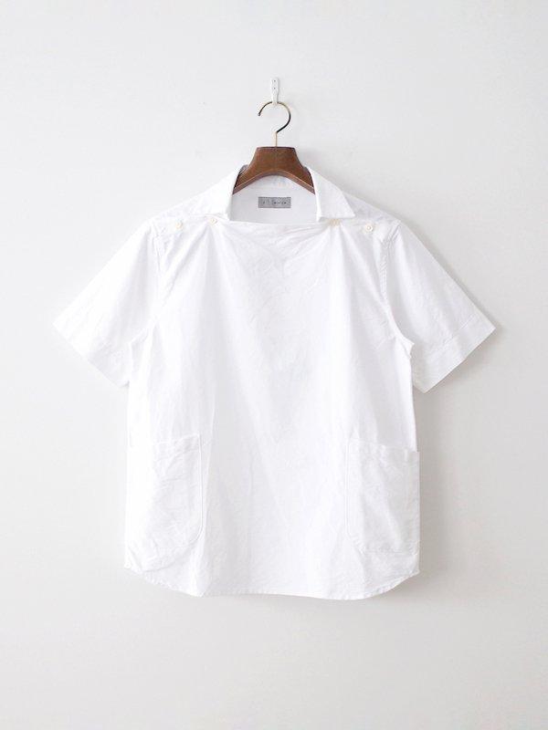 nisica 半袖デッキマンシャツ White