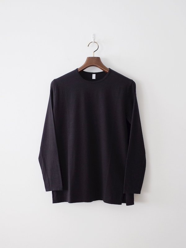 homspun 天竺長袖Tシャツ(6885)ブラック