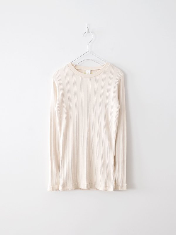 Ohh! Cotton Silk Random L/S Crew - Ecru