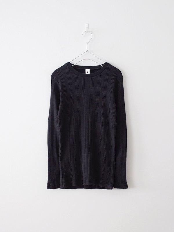 Ohh! Cotton Silk Random L/S Crew - Black