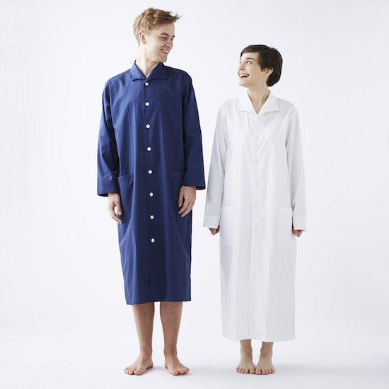 ホワイトコードレーンナイトシャツ