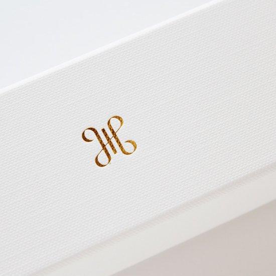 【オンラインストア限定】 ボックス付 CARLO RIVA  / Popeline Twill ネイビーロンドンストライプ