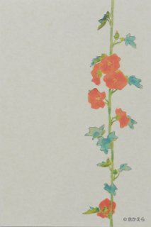 オリジナルポストカード 立葵