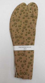 男 足袋 26.0~26.5 茶  渦柄 墨緑
