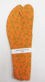 男 足袋 26.0~26.5 蜜柑色  渦柄