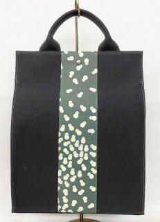 リュックタイプバッグ「KAERA sac」墨色 墨緑色雪だるま~頑張れ日本負けるな日本!応援セール