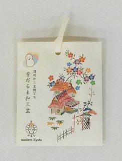 京かえら雪だるま和三盆(3個入り) 「デザインパッケージ 茶屋辻文 桜」