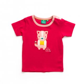 Rose Pink Cat  Short Sleeve Tee