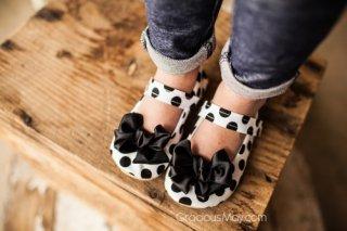 Classy Polka Dot Bow Shoes