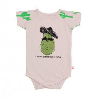 Body Suit-Neon Green Cactus/w avocado<br>ネオングリーン サボテン柄+<br>アボガド ボディスーツ