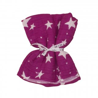 Swaddle L- Purple Stars