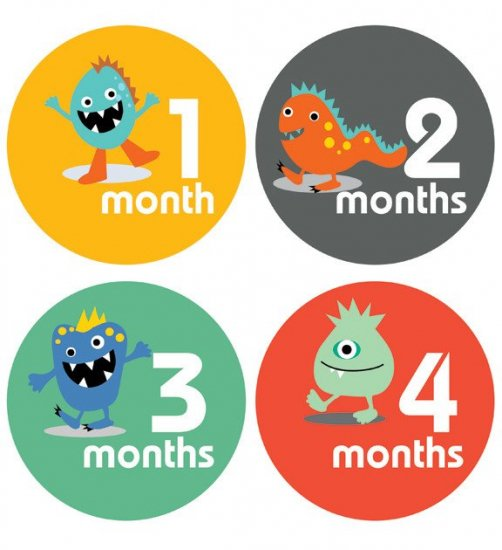 Monthly Baby Stickers SetマンスリーベビーステッカーSetLittle Monster