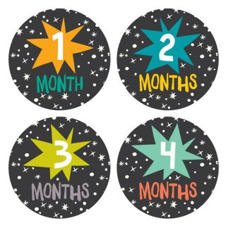 Monthly Baby Stickers Set マンスリーベビーステッカーSet Star Bright