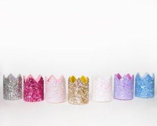 Mini Glitter Crown Headband<br>ミニ グリッタークラウン