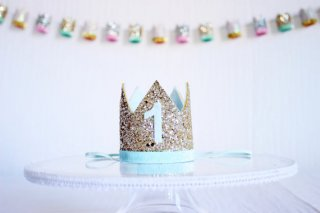 Birthday Crown<br>Gold × Baby Blue<br>