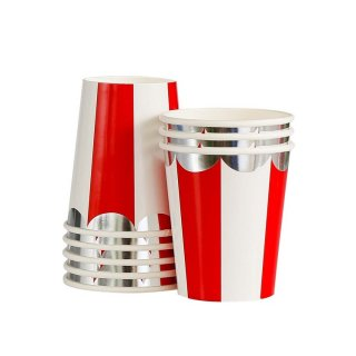 Red Scallop Paper Cups<br>set o8