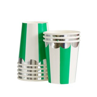 Green Scallop Paper Cups<br>set o8