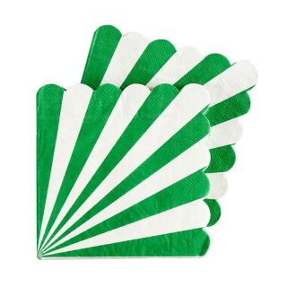 Green Scallop Napkins set of 20