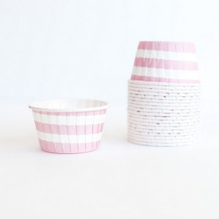 Treat Cups-Pink Stripes set of 20