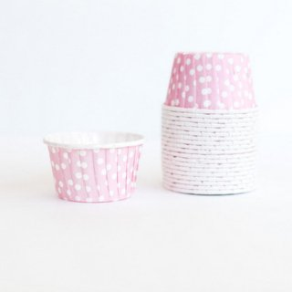 Treat Cups-Pink Dot set of 20