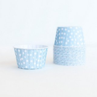 Treat Cups- Blue Dot set of 20