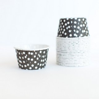 Treat Cups- Black Dot set of 20