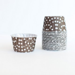 Treat Cups- Brownr Dot set of 20