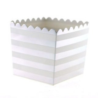 Favor Box-Silver Stripes set of 6