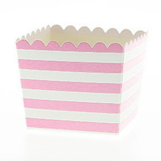 Favor Box-Pink Stripes set of 6