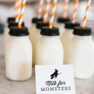 Mini Milk Bottles set of 6