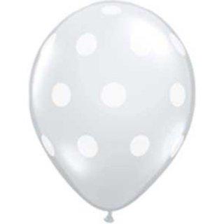 Clear Polka Dot Balloons Set of 5
