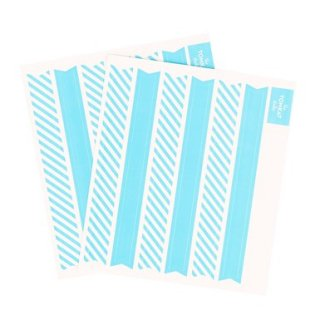 Party Sticker Flags-Blue Set of 12