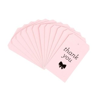 Thank you Tag-Pink Set of 12