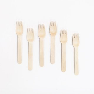 Wood Forks Set of 12