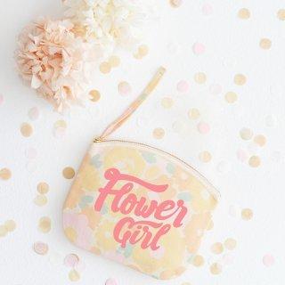 Flower Girl フローラル ナチュラルコットポーチ