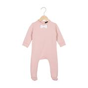 Bow Tie BabysuitPowder Pink